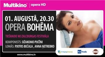 MULTIKINO: leģendārā opera BOHĒMA tiešraidē no Zalcburgas festivāla - 50%