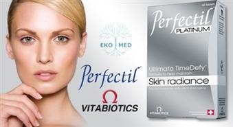 EkoMed: uztura bagātinātājs PERFECTIL PLATINUM 60 ar BIO MARINE KOLAGĒNU skaistai ādai – 50%