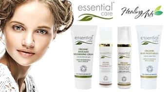 Organiskā kosmētika Essential Care - mitrinošs rožu krēms vai barojošs avokado krēms sejas ādas kopšanai līdz - 37%