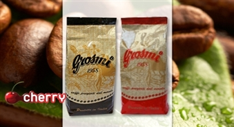 Baudi īstu itāļu kafiju! Grosmi 1958 Brown un Grosmi 1958 Red kafijas pupiņas no Parigina līdz -47%