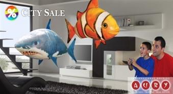 Neticami, bet fakts! Jaunākais izgudrojums FLYING FISH – gaisā peldošas zivis ar 33% atlaidi!