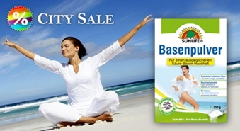 Sunlife Basenpulver: skābju-sārmu līdzsvaram organismā  ar 50% atlaidi!