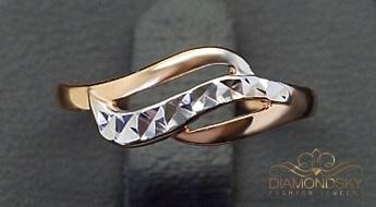 """Efektīgs zelta gredzens """"Alpīna"""" (585. prove) daiļām modes cienītājām."""