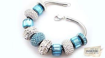 """Rokassprādze no glamūrīgām pērlītēm no Becharmed Pavé kolekcijas """"Debesu BeCharmed"""" par neticamu cenu!"""