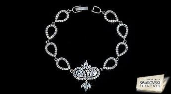 Karalisks skaistums par lielisku cenu! Košs Swarovski Elements™ kristālu mirdzums un neatkārtojams šīs rokassprādzes skaistums, iepriecinās pat pašu izmalcinātu lēdiju.