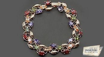 """Aprēbinuša vasaras rokassprādze """"Versaļa"""" ar Swarovski Elements™ kristāliem pašām prasīgākajām modes dāmām!"""
