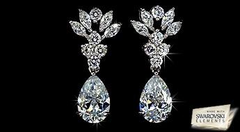 """Pasakains skaistums Jums! Auskariem """"Pasakains Ziediņš"""" piemīt ļoti interesants dizains ar detalizētu izpildījumu no caurspīdīgiem Swarovski Elements™ kristāliem."""