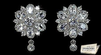 """Auskari """"Princeses Ziediņš"""" ar Swarovski Elements™ kristāliem - šis modernais aksesuārs, pasakaina skaistuma tieši Jums!"""