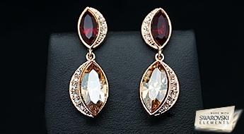 Skaisti auskari ar bizantijas dizainu un kristāliem Swarovski Elements™ par fantastisku cenu!