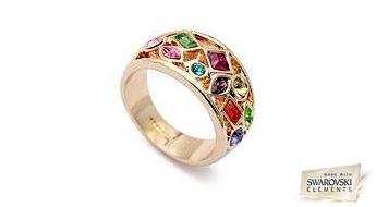 """Gredzens """"Pavasara Raksts"""" fantastiska skaistuma ar Swarovski Elements™ kristāliem, kas sevī iesūcis pavasara krāsas!"""