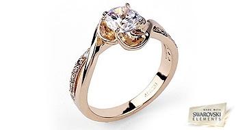 """Ļoti skaists gredzens """"Roze"""", izpildīts romantiskā dizainā, rozes ziediņa veidā priecēs Jūs ar Swarovski Elements™ kristālu mirdzumu."""