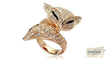 """Gredzens """"Zelta Lapsiņa"""" ar Swarovski Elements™ kristāliem, kas kaislīgi apvīs savas jaunās īpašnieces pirkstiņus!"""