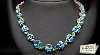 """Lieliska kaklarota """"Vasara"""" ar lielu daudzumu daudzkrāsainu Swarovski Elements kristālu,par iepazīšanās cenu!"""