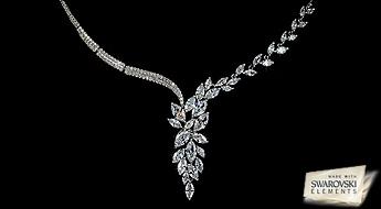 Ideāla Swarovski Elements™ kaklarota ideālai sievietei! Padariet Jūsu tēlu vēl vairāk spožāku un romantiskāku!