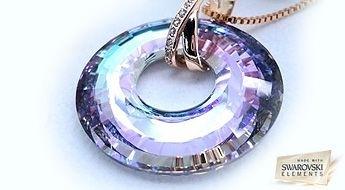 """Kulons """"Anubis"""" no vesela, apaļa Swarovski Elements™ kristāla, 2014 modes kolekcijas ar 50% atlaidi!"""