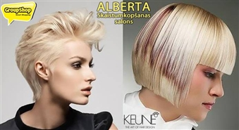 """Pārveidojiet sevi! Griezums + veidošana + KEUNE maska Jūsu matu tipam un stilista padoms salonā """"Alberta"""" klusā centrā ar 50% atlaidi!"""