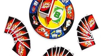 """11.60€/8.15Ls par jautru """"UNO Spin"""" kāršu spēle visai ģimenei!"""