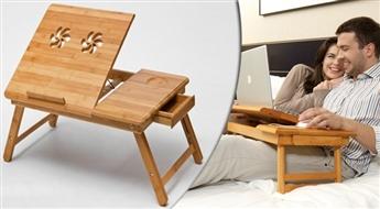 21.98 € už 57.63 € vertės Lovos staliukas iš natūralaus bambuko