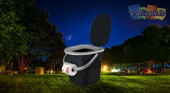 14.99 € už 19.99 € vertės Patogus nešiojamasis mini tualetas su dangčiu
