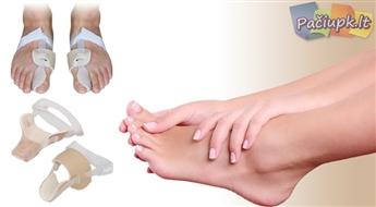 6.2 € už 22.88 € vertės Naktinis įtvaras iššokusiam ir skausmingam pėdos kauliuko skausmo mažinimui!