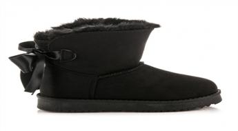 22.95 € už 22.95 € vertės Juodi moteriški batai su aulu ir kaspinėliu