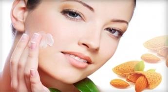 Mandeļu pīlings saudzīgai sejas ādas atjaunošanai