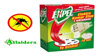 """Elektriskais fumigators pret odiem """"Expel"""" + 10 plāksnes – tikai par 2,45 Ls!"""