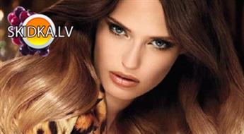 Matu krāsošana OMBRE stilā+atjaunojoša keratīna matu  maska+veidošana ar 50 % atlaidi!