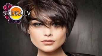 Šķipsnu balināšana vai matu krāsošana,moderns matu griezums,zīda proteīnu maska, ieveidošana ar 54 % atlaidi!