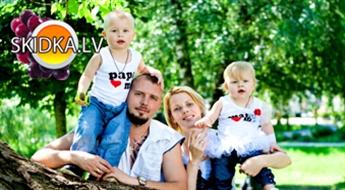 Sunny photo: spilgta ģimenes fotosesija!