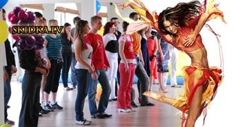 Latino dejas DAMAM BEZ PARTNERA UNIKALA DEJU UN KUSTIBAS ATTISTIBAS PROGRAMMA Nāc dejot priecīgā un brīvā atmosfērā!Atlaide -62%