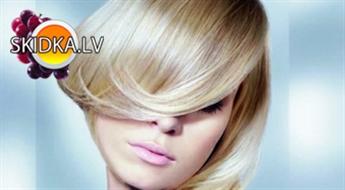 """Matu griešana, krāsošana un ieveidošana salonā """"Venezia"""" vai """"Eklektik"""" ar 50% atlaidi! Skaisti, veselīgi un spīdīgi mati!"""