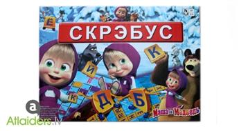 """Attīstošā galda spēle scrabble """"Maša un Lācis"""" – tagad tikai par 13,99 EUR!"""