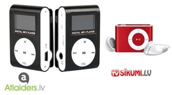 Kompakts un ērts mini MP3 atskaņotājs bez displeja VAI ar displeju! Cenas sākot ar 5.59 EUR!