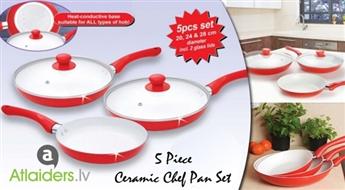 Keramisko pannu komplekts Ceramic Chef Pan tikai par 26.99 EUR!
