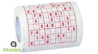 Tualetes papīrs ar Sudoku – nost ar garlaicību!