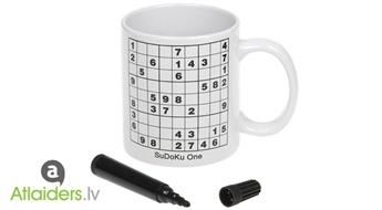 Sudoku cienītājiem! Sudoku krūze – tagad ar 60% atlaidi!