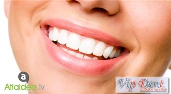 VIP Dent: Zobu restaurācija - labošana ar jaunākās paaudzes GC kompozītmateriāliem un aizsargājošu pārklājumu tagad tikai par 34,99 EUR!