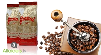 """Īstas itāļu kafijas pupiņas """"Grosmi Red"""" (1kg)! Izsmalcināta bauda īstiem kafijas cienītājiem! Sāciet savu rītu ar garšīgu kafiju!"""