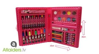 Lieliska dāvana bērnam! Ērts un kompakts Minnie zīmēšanas piederumu komplekts tikai par 5.99 EUR!