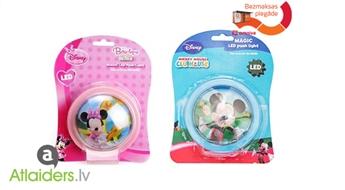 Mikija vai Minnijas sienas LED lampa bērniem - viegli uzstādāma un lietojama!