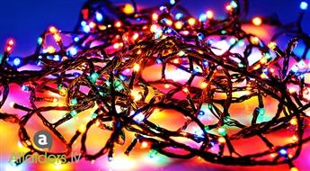 Neticami skaista un spilgta daudzkrāsaina gaismas diožu virtene (50 diodes, 3,7 m)! Piegāde par 1 EUR!