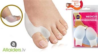 Ērtas ortopēdiskās šinas (2 gab.) kāju lielo pirkstu korekcijai un komfortam!