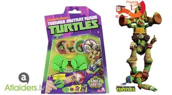 TURTLES komplektā 2 bruņu šāvēji, 6 diski un divi mērķi!
