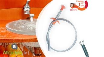 Lokana metāla trose ar metālā āķiem ātrai un efektīvai cauruļu tīrīšanai!