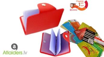 Praktisks un elegants aksesuārs! Maks (9 krāsas) kredītkaršu uzglabāšanai!