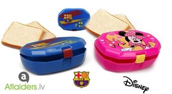 Sarūpē našķi starpbrīdim! Sviestmaižu kārbiņas ar Minnijas vai FC Barcelona