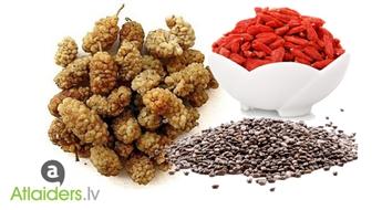 Zīdkoka, godži ogas, vai čia sēklas stiprai imunitātei un veselīgai ēdienkartei!