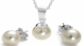 Mānīgais pērļu skaistums! Grezns rotu komplekts ar pērlēm īstām dāmām -78%