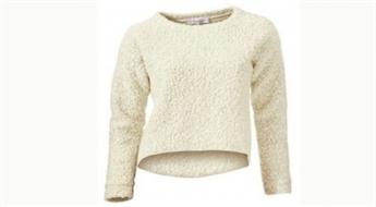 Apburoši mīksts sieviešu džemperis ar o veida izgriezumu